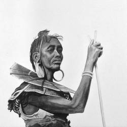 Tribal Art size - 24x24In - 24x24