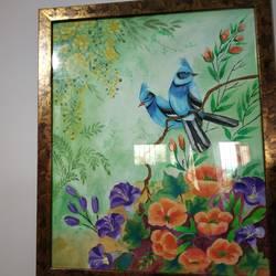 Blue birds size - 16x20In - 16x20