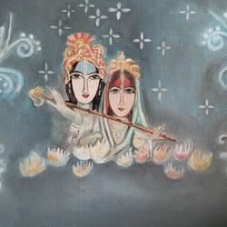 Radha and krishna size - 24x16In - 24x16
