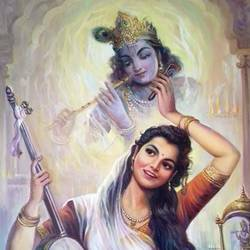 radha-krishna-instrumagine size - 24x36In - 24x36