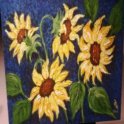Sunflower size - 24x18In - 24x18