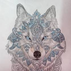 Crystal wolf size - 11.69x16.54In - 11.69x16.54