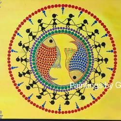The Warli Tribe  size - 10.75x8.75In - 10.75x8.75