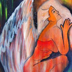 Fallen Angel's prayer size - 14x18In - 14x18