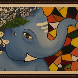 Bal Ganesha size - 18x24In - 18x24