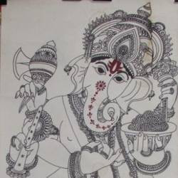 Lord Ganesh size - 11x22In - 11x22