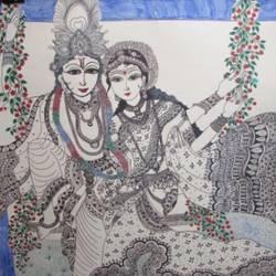 Radha  Krishna size - 22x28In - 22x28