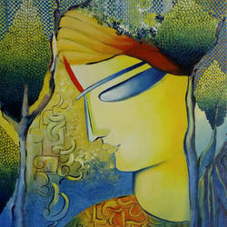 I am Krishna, I am unconditional Love size - 18x24In - 18x24