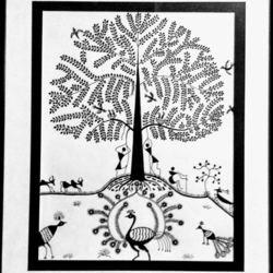 Warli Art size - 11x14In - 11x14