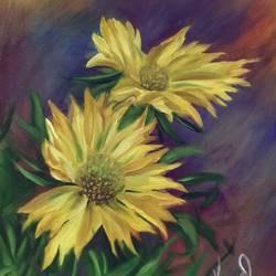 Beautiful yellow flowers.. size - 27x19In - 27x19