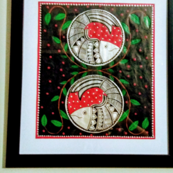 Madhubani painting size - 10x12In - 10x12