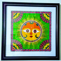Madhubani painting size - 11x11In - 11x11