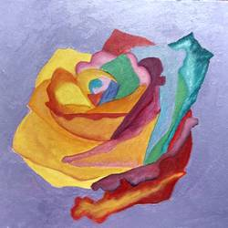 Coloured rose size - 12x16In - 12x16