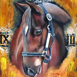 I'm Always Fast (Roman Horse) size - 14x18In - 14x18