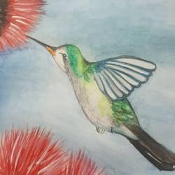 Humming bird  size - 5.8x8.2In - 5.8x8.2