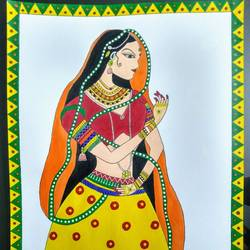 Madhubani painting size - 12x18In - 12x18
