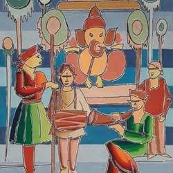ganesh festival size - 15.5x22.5In - 15.5x22.5