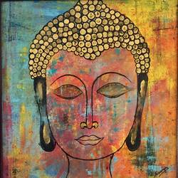 Buddha painting size - 18x20In - 18x20