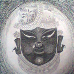 Shreenathji size - 23x33In - 23x33