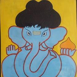 """Bal Ganesha"" size - 22x28In - 22x28"