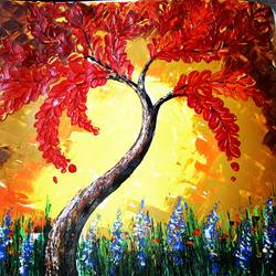 Palette knife painting size - 10.62x13.66In - 10.62x13.66
