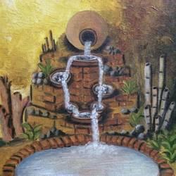 Matka fountain size - 12x16In - 12x16