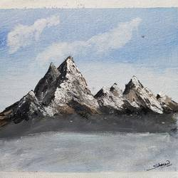 Snowy Mountains size - 9x8In - 9x8