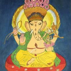 Ganesha size - 11.5x16.2In - 11.5x16.2