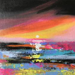 Color Crush !! Abstract  Landscape ! size - 6x6In - 6x6