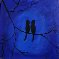 LOVE BIRDS size - 16x20In - 16x20