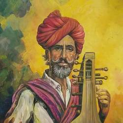 MUSICAL BABA size - 24x36In - 24x36
