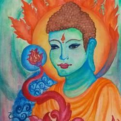 Buddha size - 8x9In - 8x9