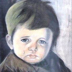 children crying size - 9x11In - 9x11