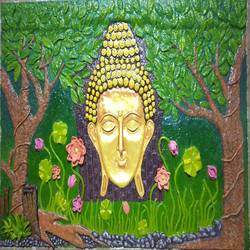 Budha 3d clay size - 72x48In - 72x48