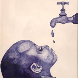 water is a basic human right size - 13x21In - 13x21