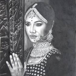 beautiful woman art size - 14x17In - 14x17
