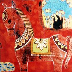 Red horse -II size - 12x19In - 12x19