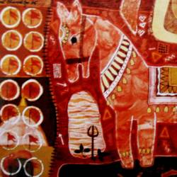Red Horse III size - 22x14In - 22x14