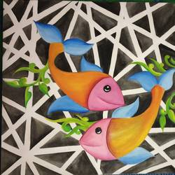 fish size - 15x15In - 15x15