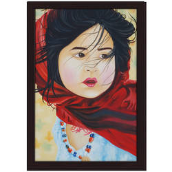 Baby with red cloth size - 24x36In - 24x36