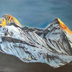 Dhauladhar Peaks size - 17x11.5In - 17x11.5