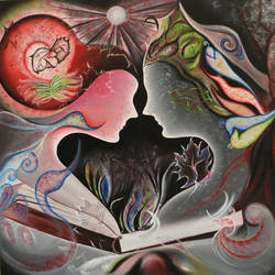 Story of Adam & Eve size - 40x40In - 40x40