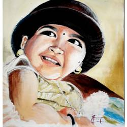 Smile of baby  size - 50x30In - 50x30
