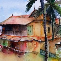 Ooru -  A Eco Friendly House in Kerala size - 14x10In - 14x10