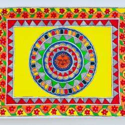 SUN GOD MADHUBANI size - 17x13In - 17x13
