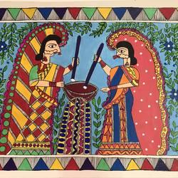 WOMEN MADHUBANI size - 19x13In - 19x13