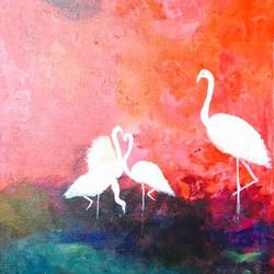 Flamingos! size - 15x22In - 15x22