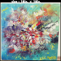abstract painting-2 size - 18x18In - 18x18
