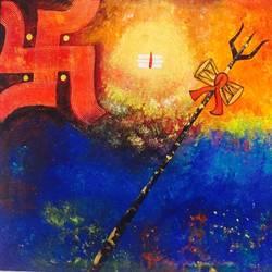 Shiva Abhamandal  size - 54x48In - 54x48