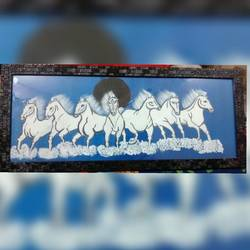 Seven horse painting size - 22x7In - 22x7